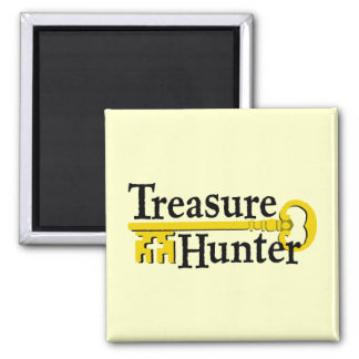 Treasure Hunter with gold key Magnet