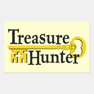Treasure Hunter with gold key Rectangular Sticker