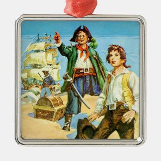 Treasure Island 1 Metal Ornament