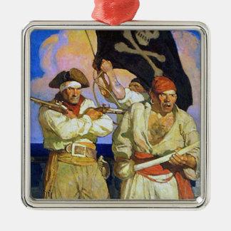 Treasure Island 2 Metal Ornament