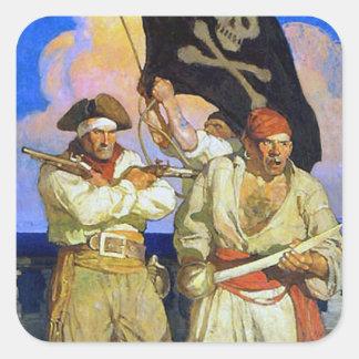 Treasure Island 2 Square Sticker