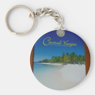 Treasure Island Basic Round Button Keychain