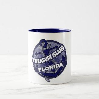 Treasure Island Florida anchor swirl coffee mug