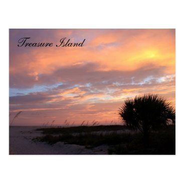 Beach Themed Treasure Island, Florida Postcard