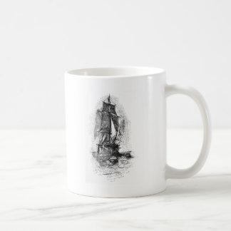 Treasure Island Pirate Ship Classic White Coffee Mug