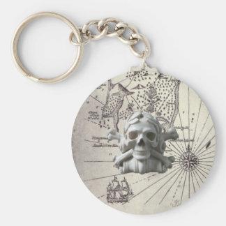 Treasure Island Pirate Skull Key Chain