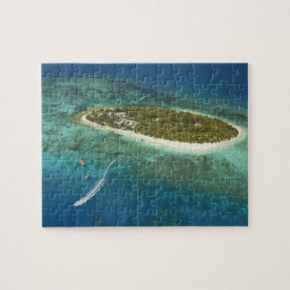 Treasure Island Resort and boat, Fiji Jigsaw Puzzle