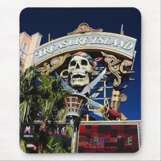 Treasure Island Sign Mouse Pad