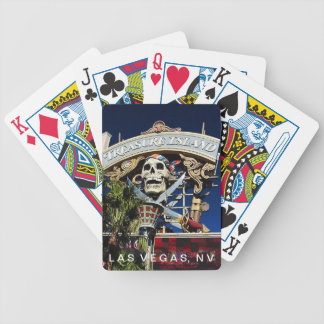 Treasure Island Sign Playing Cards