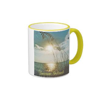 Treasure Island Sunset Mug, Version B Ringer Mug