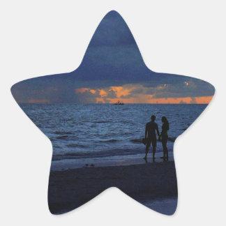Treasure Island Sunset Star Sticker