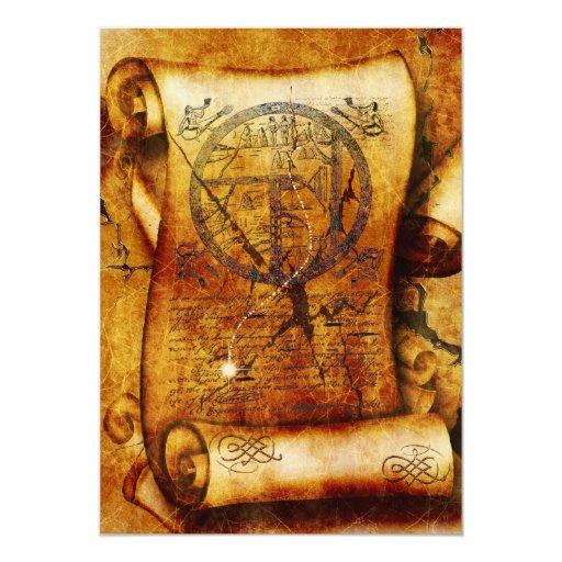 Ancient Scroll: Treasure Map Ancient Scroll Birthday 5x7 Paper Invitation