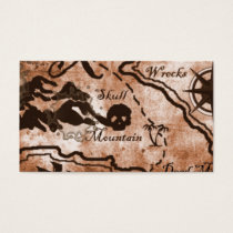 Treasure map business card