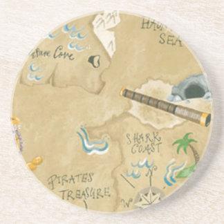 Treasure Map Coaster