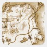 treasure_map_colored.jpg pegatina cuadrada