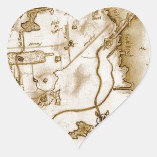 treasure_map_colored.jpg pegatina en forma de corazón