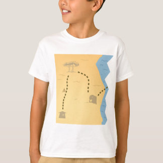 Treasure Map Half T-Shirt