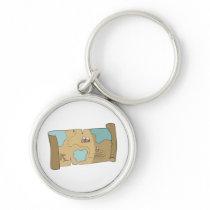 treasure map keychain