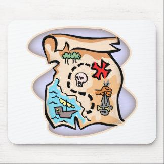 Treasure Map Mousepads