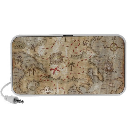 Treasure Map Portable Speaker
