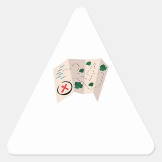 Treasure Map Triangle Stickers