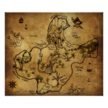Treasure Map- The Isle of Lost Treasure Posters