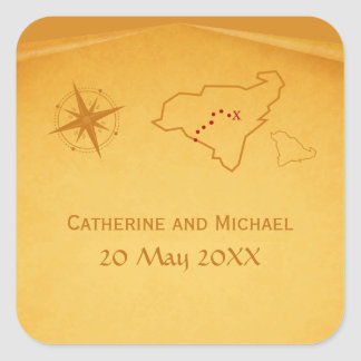 Treasure Map Wedding Stickers