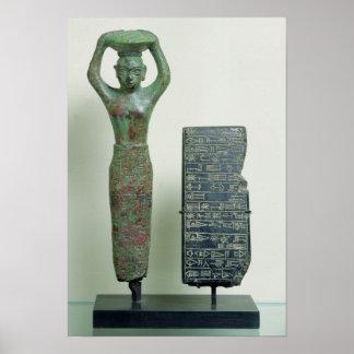 Treasure of Amar-Sin  King of Ur, c.2040 BC Poster