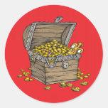 Treasure on Red Round Sticker