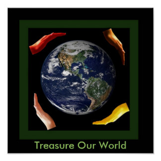 Treasure Our beautiful World Poster
