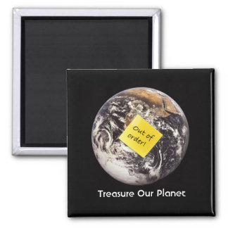 Treasure Our Planet 2 Inch Square Magnet