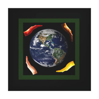 Treasure Our World - Think green Canvas Print