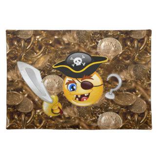 treasure pirate emoji placemat