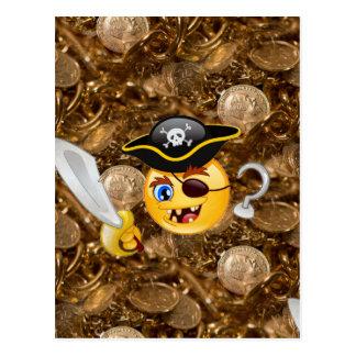 treasure pirate emoji postcard