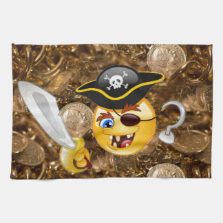treasure pirate emoji towel