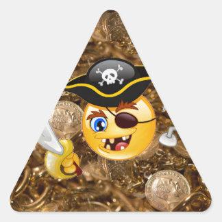 treasure pirate emoji triangle sticker