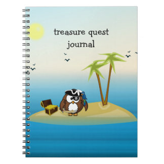 treasure quest owl spiral notebook