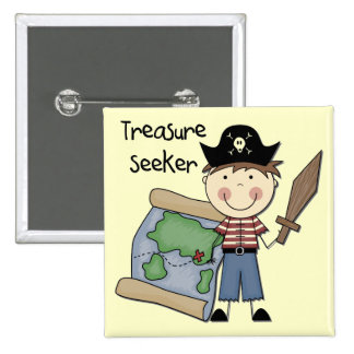 Treasure Seeker - Boy Tshirts and Gifts Button