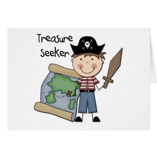 Treasure Seeker - Boy Tshirts and Gifts Greeting Card