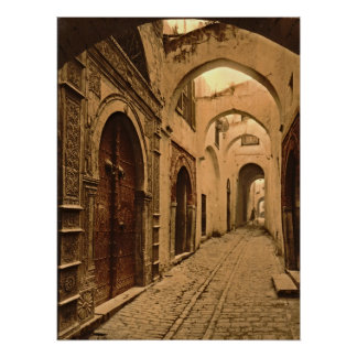 Treasure Street in Tunis Poster
