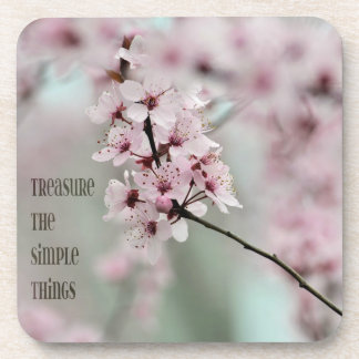 Treasure the Simple Things Floral Coaster