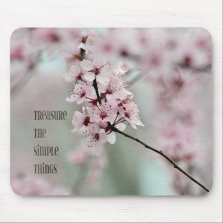 Treasure the Simple Things Floral Mouse Pad