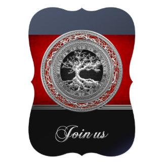 Treasure Trove Silver Celtic Tree of Life Personalized Invite