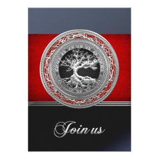 Treasure Trove Silver Celtic Tree of Life Personalized Announcements