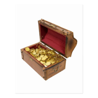 TreasureChestGold100309 Postales