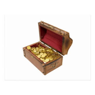 TreasureChestGold100309 Tarjeta Postal