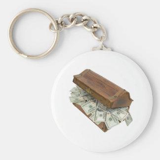 TreasureChestMoneyOpening100309 Llavero Redondo Tipo Pin