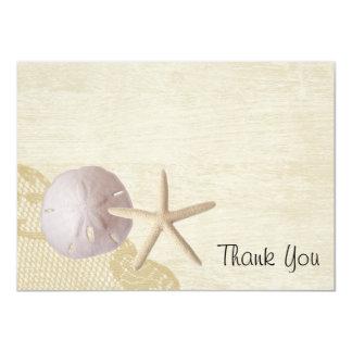 Treasured Beach Flat Card Thank you