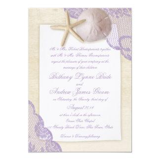 Treasured Beach Lavender Wedding Card