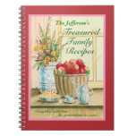 Treasured Family Recipes Journal Spiral Note Book